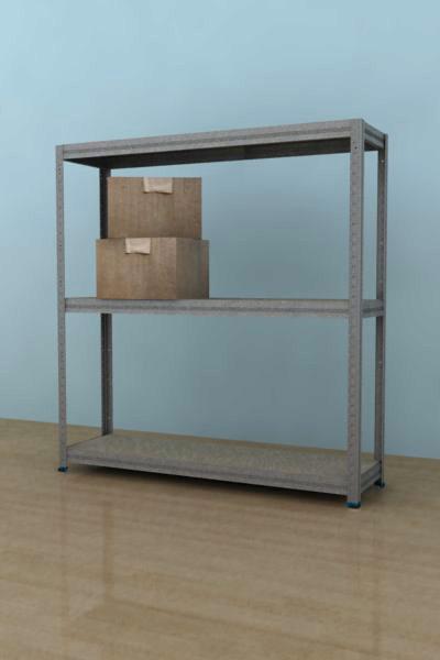 Kovový regál Futur 900x750x350/3, pozink,175kg/pol. lamino (pozink, 175kg/3 pol.lamino)