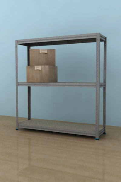 Kovový regál Futur 900x900x350/3, pozink,175kg/pol. lamino (pozink, 175kg/3 pol. lamino)