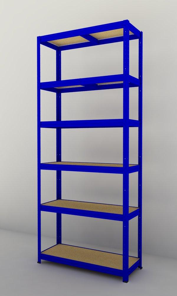 Kovový regál Futur 1800x900x450/6, modrá ( modrá, 275 kg/pol.)